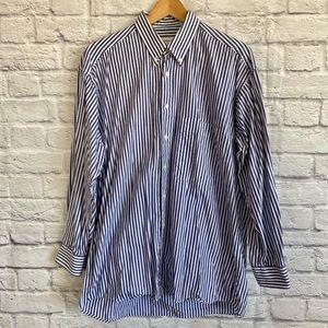 HARRY ROSEN Men's Button Down Striped Shirt